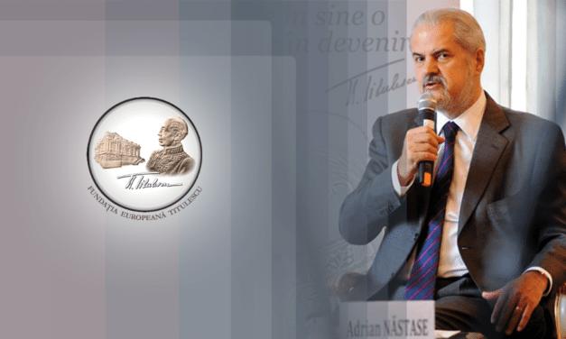 Mesajul președintelui Fundației Europene Titulescu