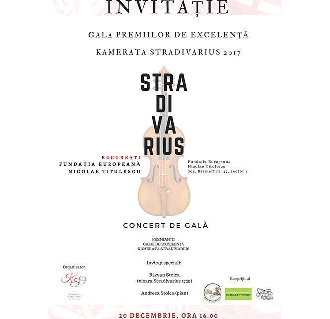 Gala Premiilor de Excelență Kamerata Stradivarius